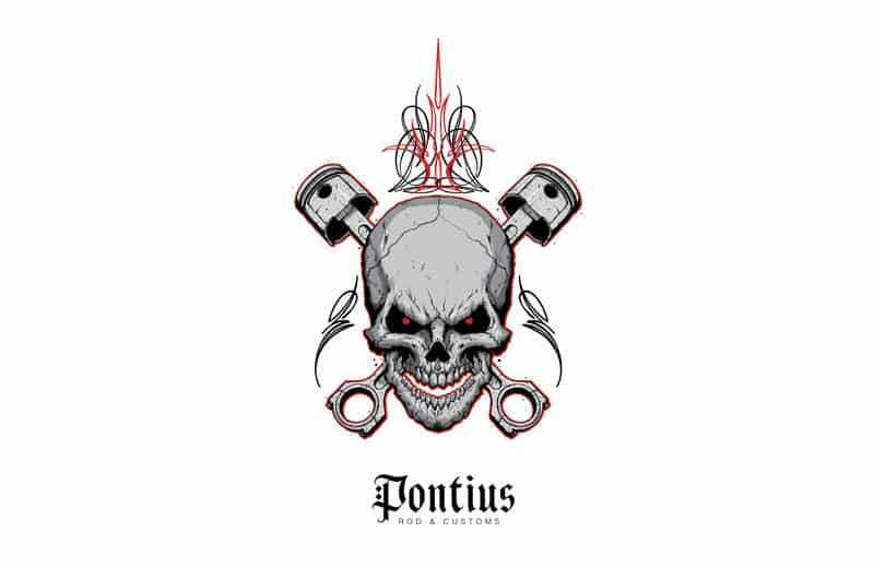 Pontius Rods and Customs Logo