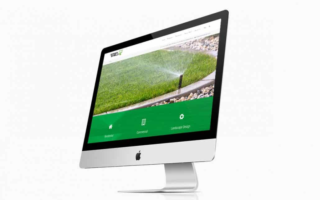 Green Shield Website iMac