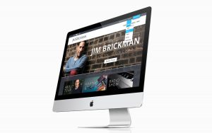 Jim Brickman Website Design