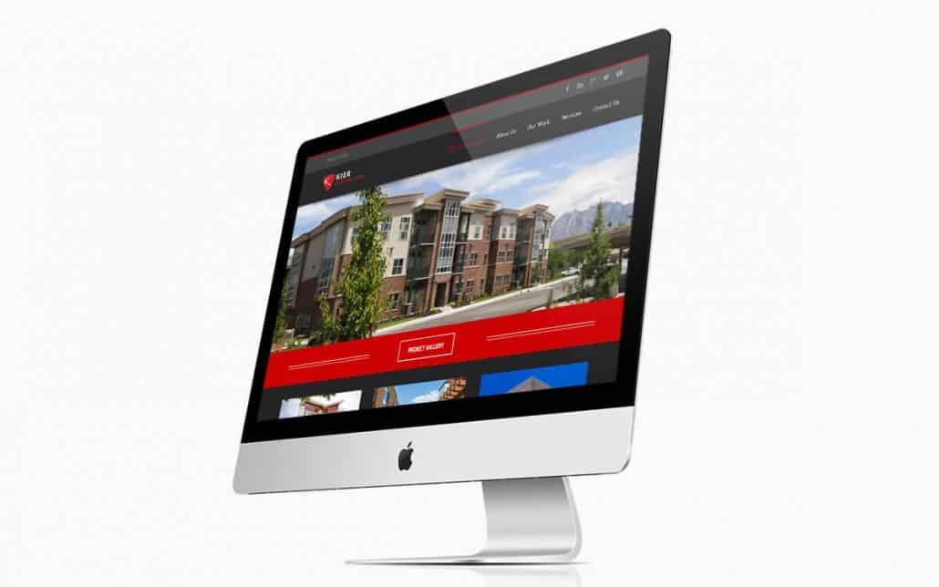 Kier Construction Website iMac