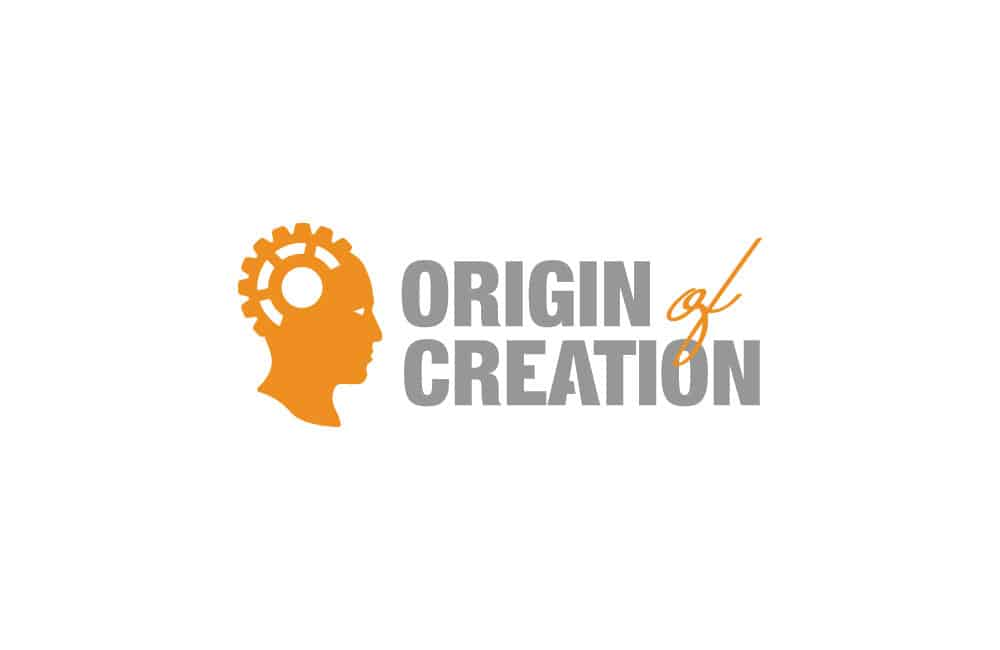 Origin of Creation Gear Head Logo