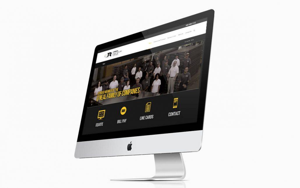 ONeil Flat Roll Metals Website iMac