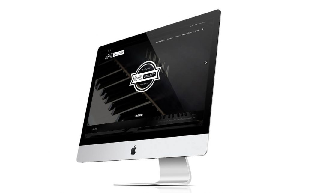Ogden Piano Gallery website imac comp