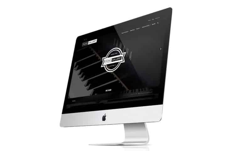 Ogden Piano Gallery website imac comp