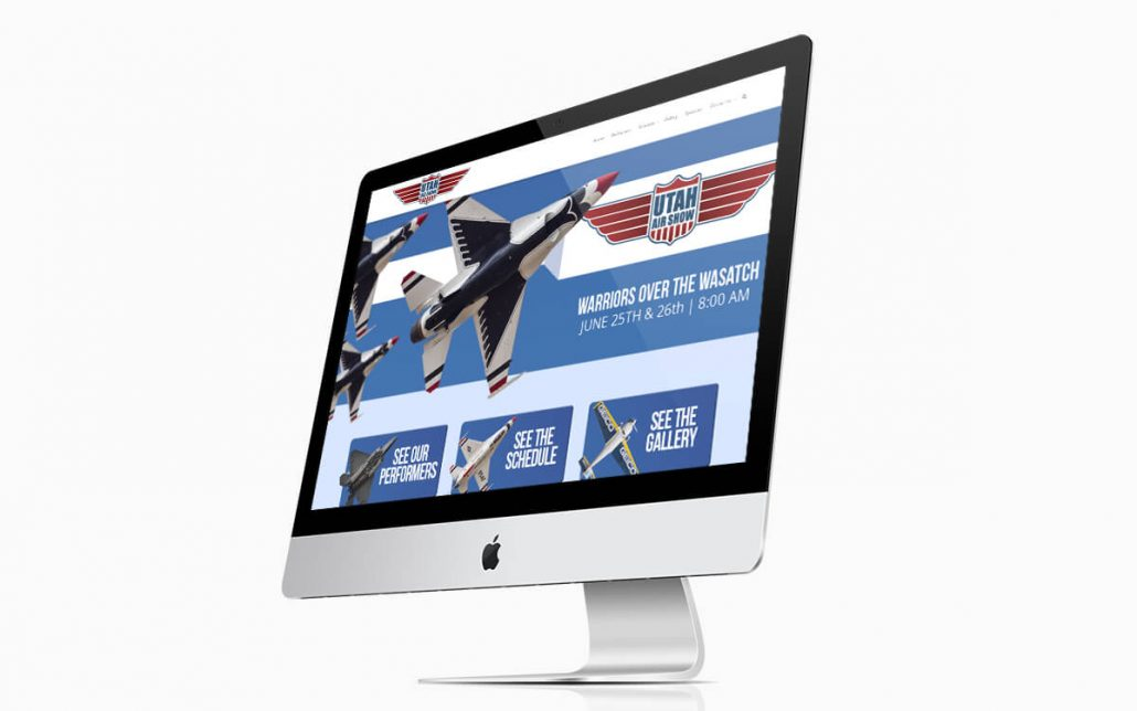 Utah Air Show Website iMac