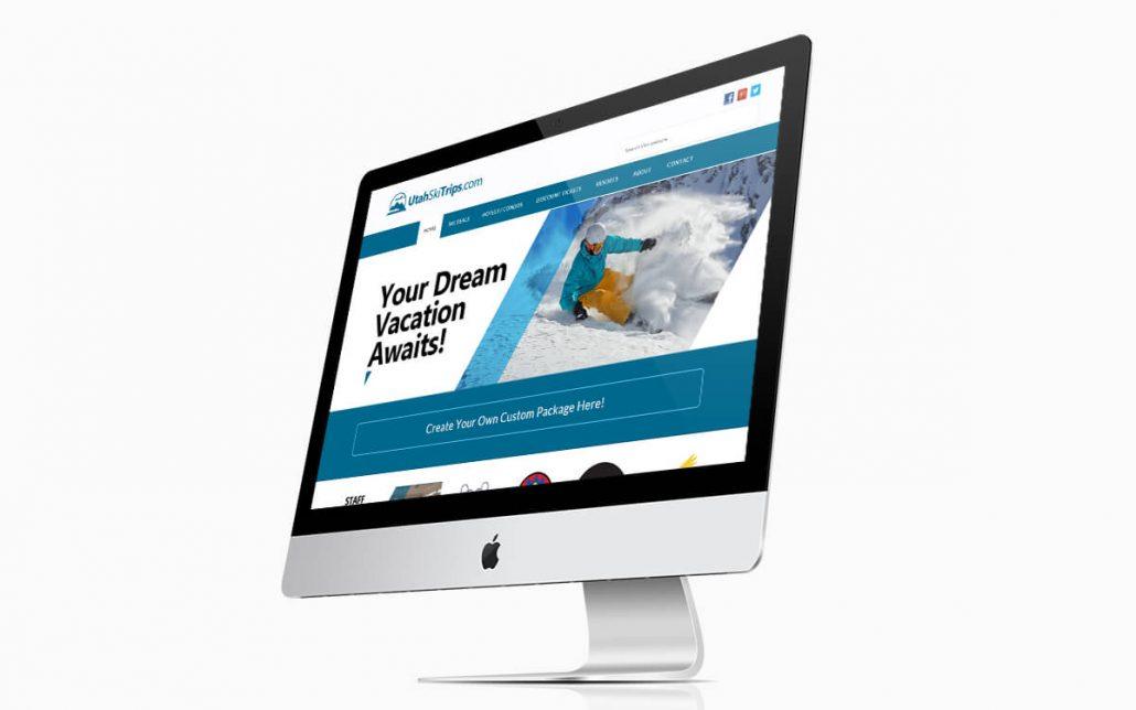 Utah Ski Trips Website iMac