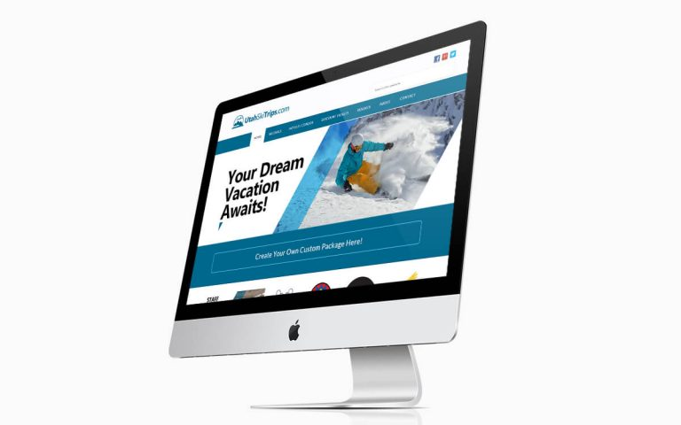 Utah Ski Trips Website Design