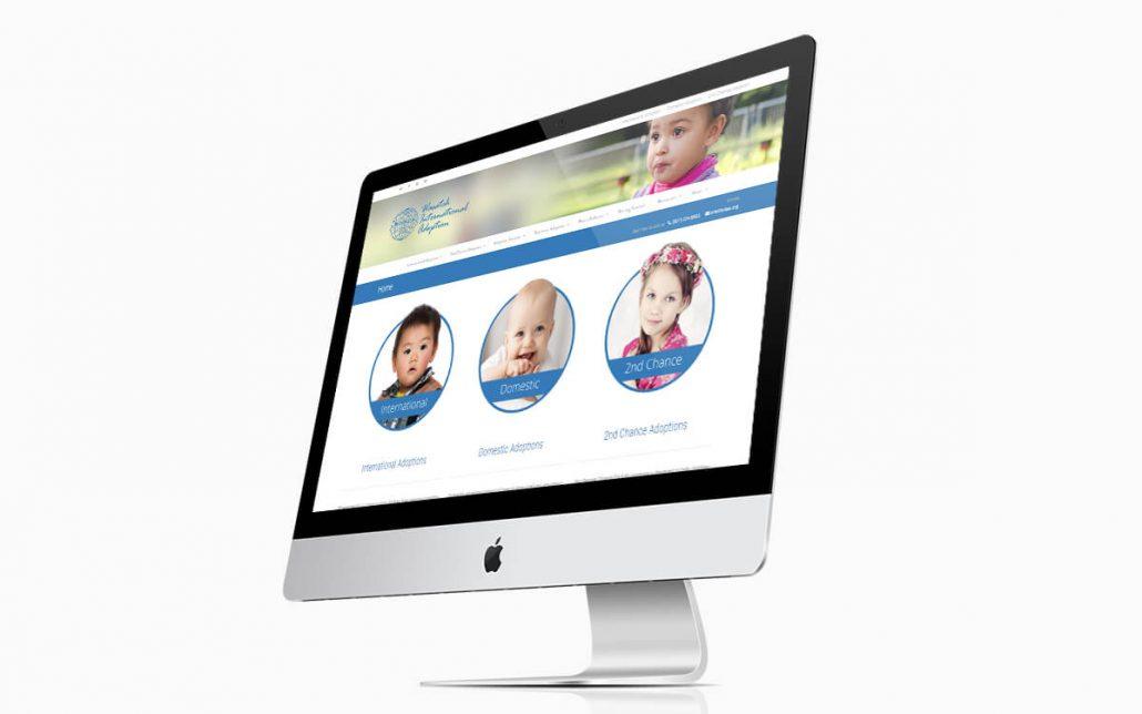Wasatch International Adoption Website iMac