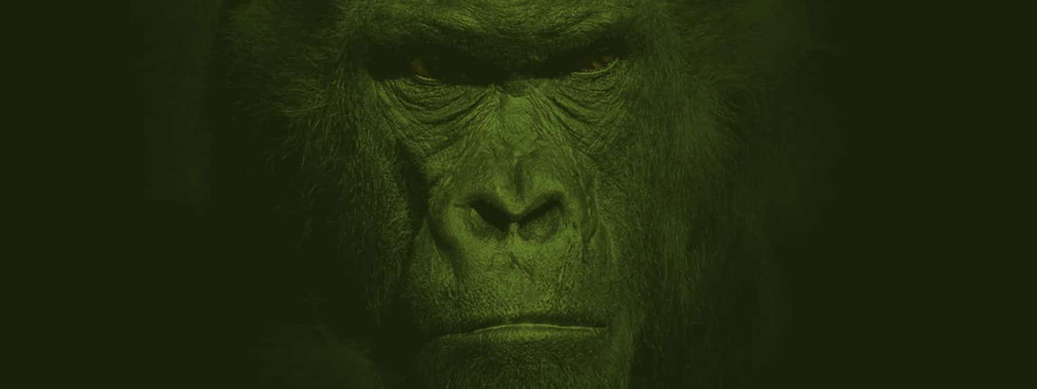 Green Ape Portrait Background