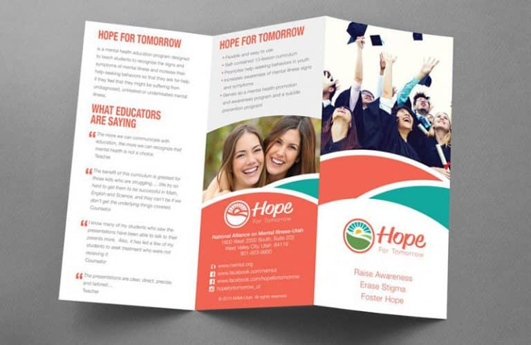 Hope for Tomorrow Brochure Design