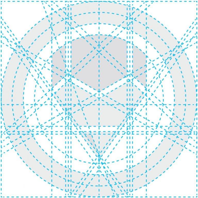 Logo Design Process Vector Outlines