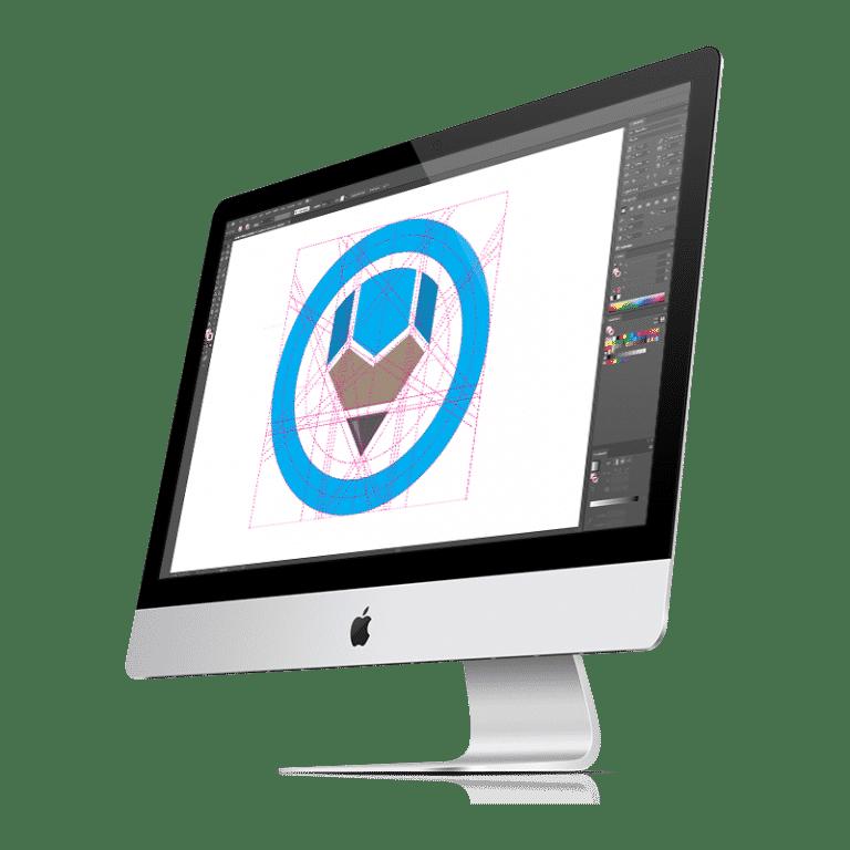Logo Design on iMac