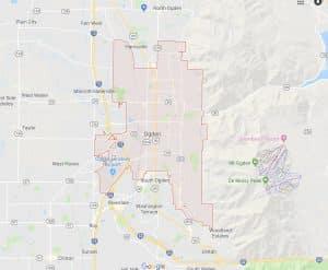 Google Map of Ogden, Utah