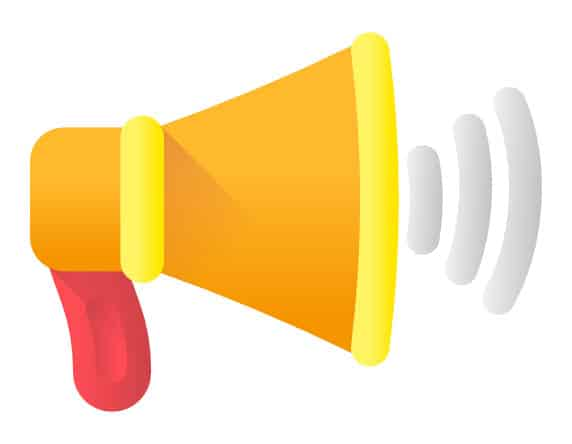 Call to Action Megaphone
