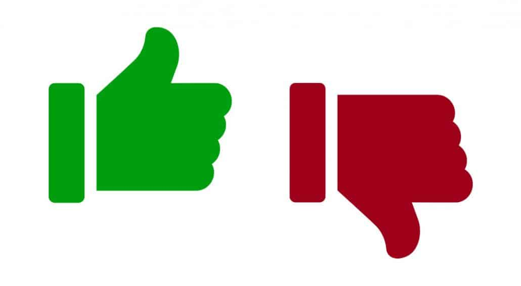 Good and Bad Website Design Thumbs