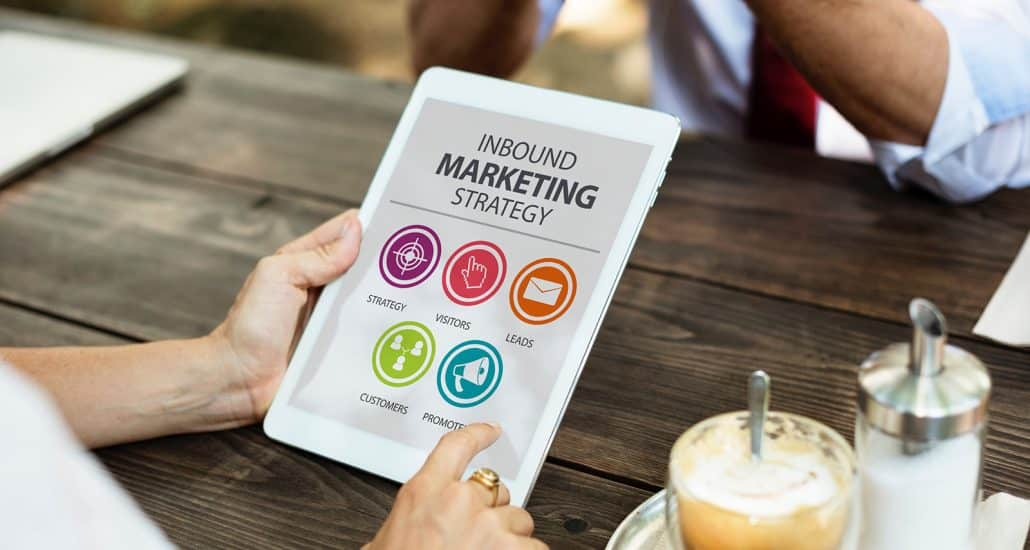 Inbound Marketing Strategy on iPad