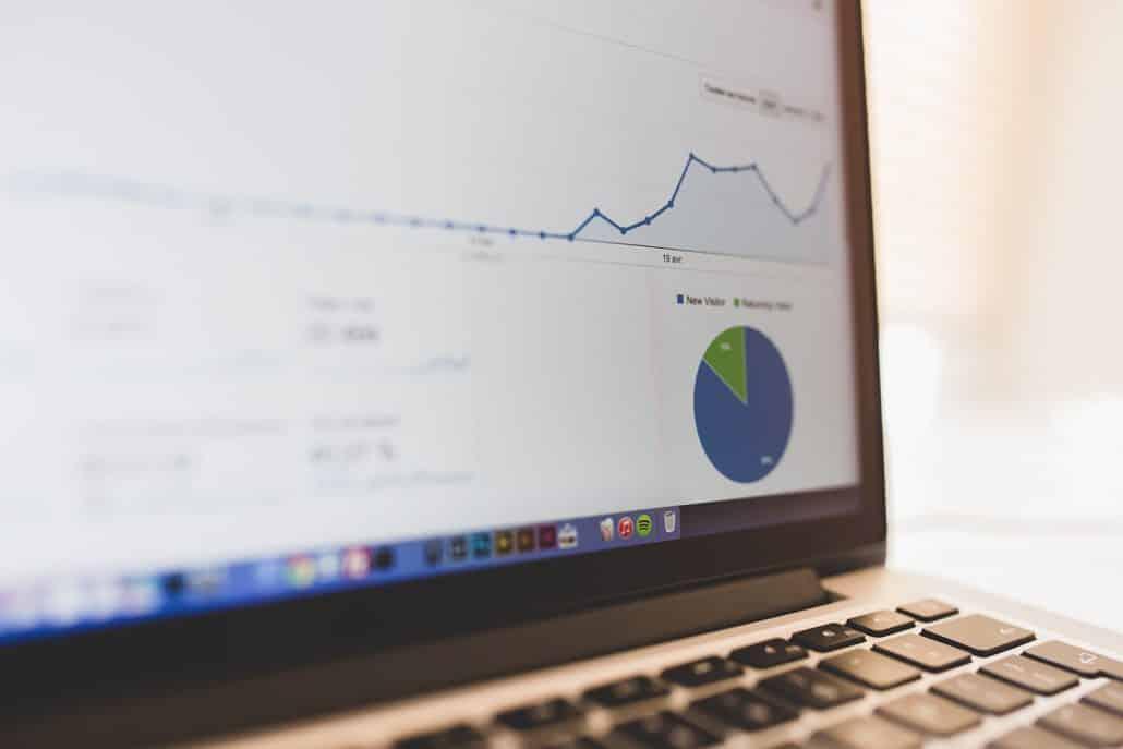 Google Analytics Displayed on MacBook